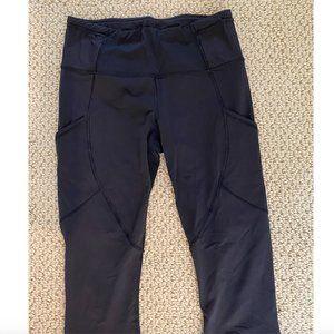 Lululemon Black Crop Leggings Size 6